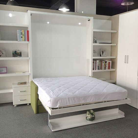 Space Saving Bed With Storage Cabinet Multifunctional Innovative Bed Designer Furniture Buy
