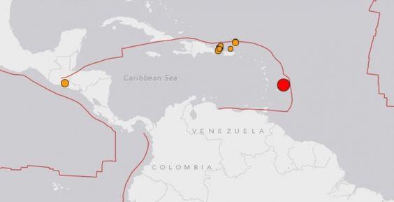 Earthquake Off Barbados Coast Felt In Guyana Barbados Felt And - Barbados map of us
