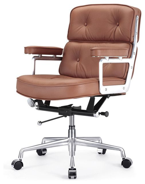 Brown Leder Buro Stuhl Stuhlede Com Lederstuhle Moderne Burostuhle Burostuhl