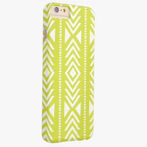 iPhone 6 Plus Cases | Cool Light Green Tribal Pattern Girly iPhone 6 Plus Case