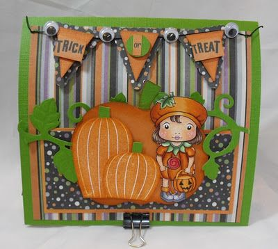 A wonderful Hallowe'en card from Karlie Miranda at Crafting with Class.