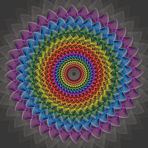 Rainbow Mandala Colorful Mandala Rainbow by megdowntherabbithole