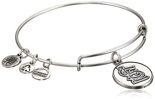 Alex and Ani St. Louis Cardinals Cap Logo Expandable Rafaelian Silver Bangle Bracelet. Expandable wire bangle bracelet featuring embossed St Louis cardinals logo charm. Made in United States.