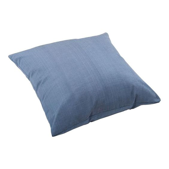 ZUO Lizzy Square Outdoor Throw Pillow, Country Blue