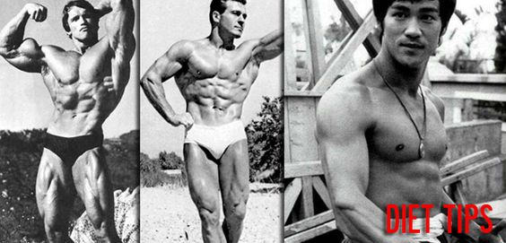 From Top 100 Fittest Men of All Time Inspire Health and Fitness Greatness, DIET tips:Arnold Schwarzenegger, Jack LaLanne, Bruce Lee Diet Tips