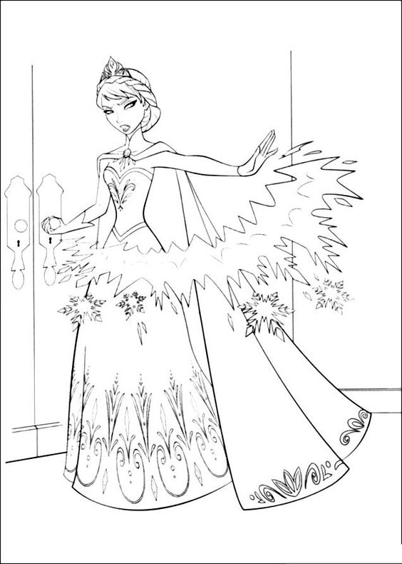 Disney Queen Coloring Pages : Disney frozen coloring sheets the snow