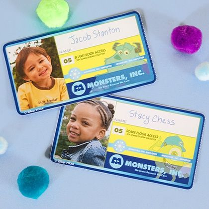 Monsters, Inc Employee Badge Disney, Monsters inc names and - id badge template