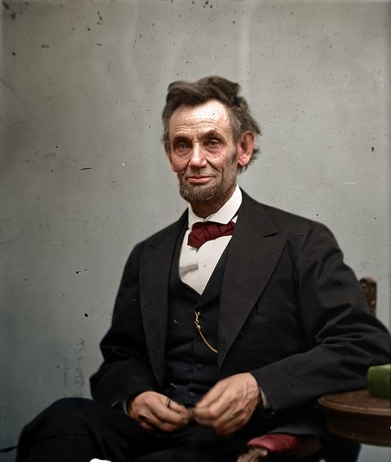 Abraham Lincoln by Alexander Gardner, taken in February 1865. | 20 Historic Photos Shown In Extraordinary Color