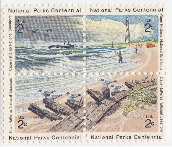 USA cape hatteras stamps