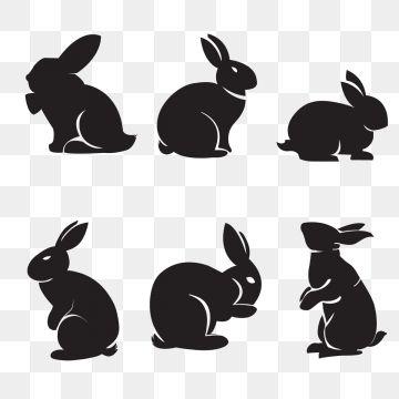 ウサギのシルエット 影のクリップアート バニー イースター画像素材の無料ダウンロードのためのpngとベクトル うさぎ シルエット 影のイラスト シルエットアート