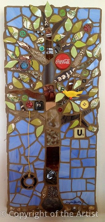 Family Tree of Life by Anja Hertle ~ Maplestone Gallery Contemporary Mosaic Art