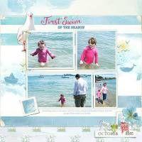 Summer Snap kit, Lynn Grieveson, Designer Digitals, digital scrapbooking  beach layout