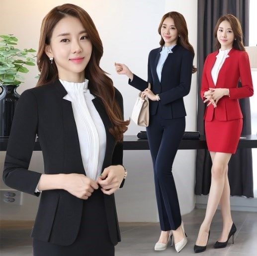 Formal Elegant Women's Blazers Trouser Suits Ladies Red Blazer Women Business Suits with Pant and Jackets Sets Work Wear