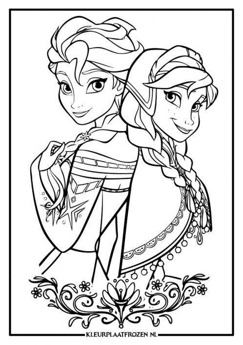 Hedendaags Elsa & Anna Kleurplaat uitprinten op Kleurplaat Frozen GN-62
