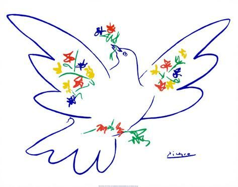 La colombe de la paix Posters par Pablo Picasso sur AllPosters.fr