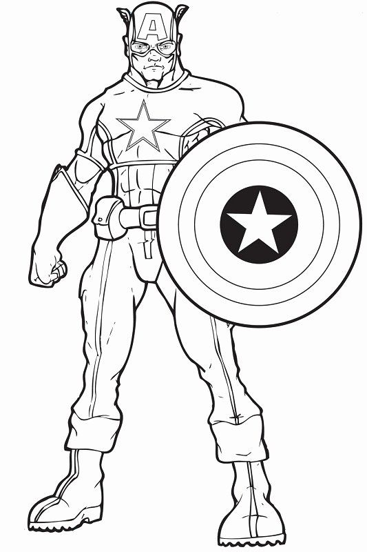 Captain America Shield Coloring Page Luxury Captain America Shield Drawing At Getdrawings In 2020 Avengers Coloring Pages Avengers Coloring Superhero Coloring Pages