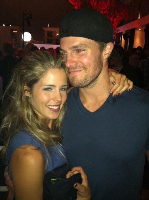 Emily Bett Rickards with her ex-boyfriend