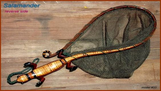 Salamanders woods and fishing on pinterest for Fish landing nets
