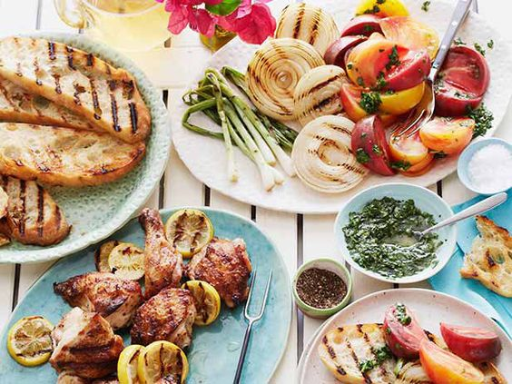 Grilled Chicken with Charred Lemon and Heirloom Tomatoes #GrillingCentral