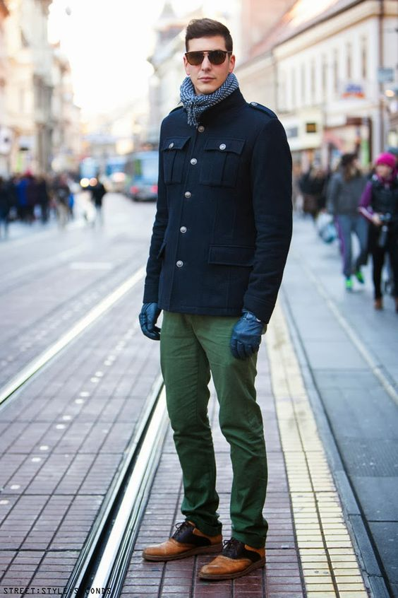 pea coat street style look men | Fashion | Pinterest | Coats