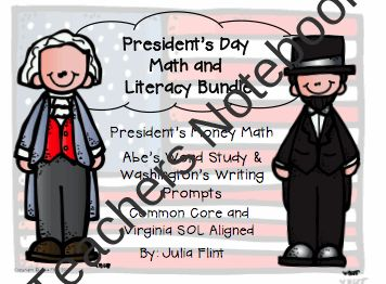 Presidents Day Math and Literacy Bundle  product from Mrs-Flints-Class on TeachersNotebook.com