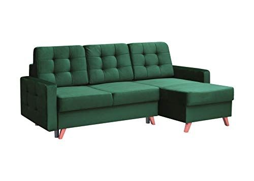Vegas Futon Sectional Sofa Bed Queen Sleeper With Storage Dark Green With Images Futon Sectional Futon Sectional Sofa