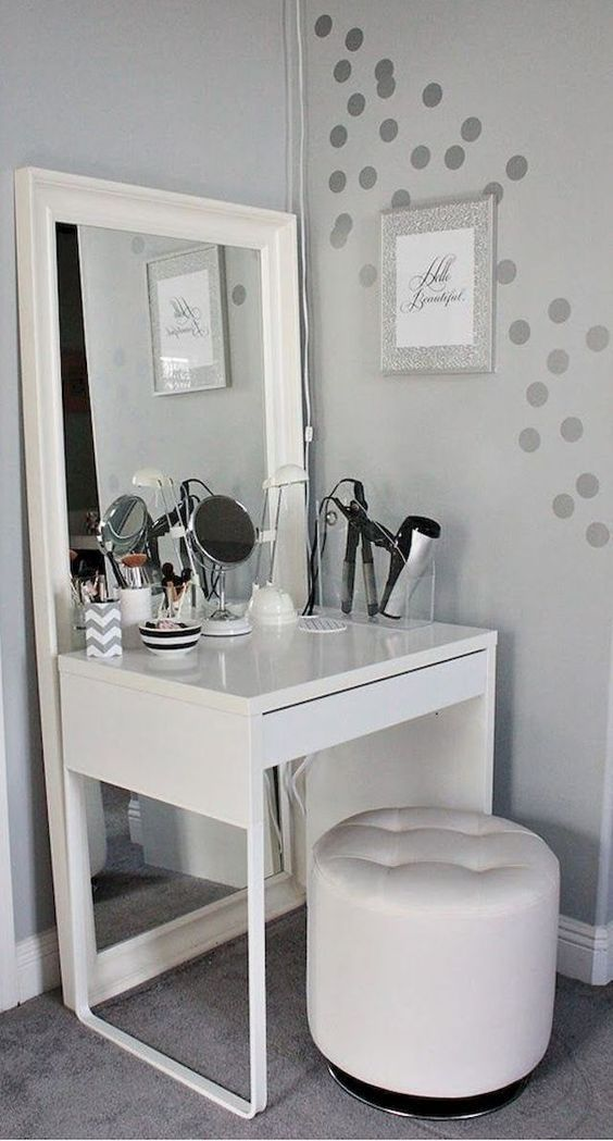 Dressing Table Makeup Home Decoration Small Room Mirror Stool Bedroom Cloakroom Bath Makeup Vanity Ideas Bedrooms Bedroom Vanity Diy Makeup Vanity Table