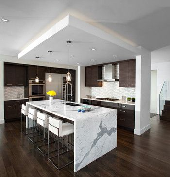 waterfall countertops -- a trend? - Kitchens Forum - GardenWeb