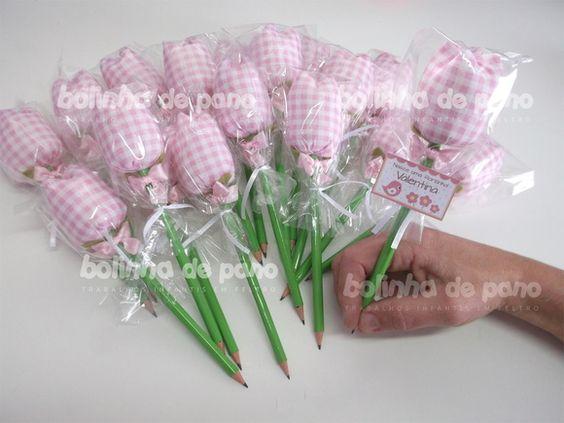PRONTA ENTREGA 40 Lápis Tulipa Lembrança