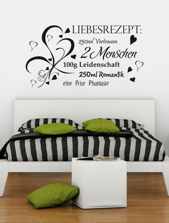 f r jedes p rchen geeignet love wandtattoo valentinstag geschenkideen spruch schlafzimmer. Black Bedroom Furniture Sets. Home Design Ideas