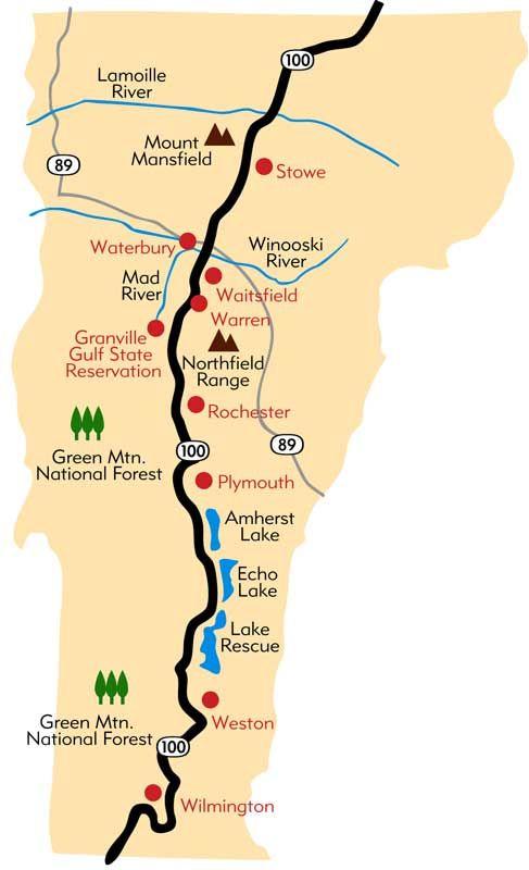 Scenic Drive Vermont Route 100