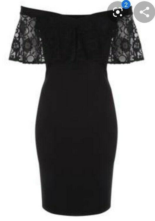 Bnwt Jane Norman Lace Bardot Bodycon Dress Uk 10 In 2020 Bodycon Dresses Uk Bodycon Dress Bandage Dress Bodycon