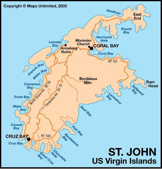 map of St Johns Island One of my favorite places so quiet – St John Caribbean Map