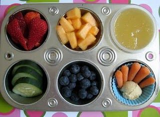 rainbow fruit and veggie snack