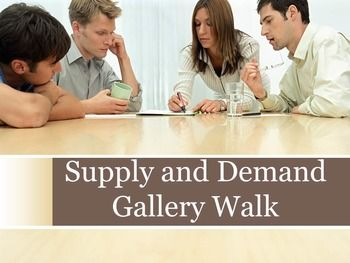 Supply and Demand Gallery Walk | Hands On, Worksheets and Student