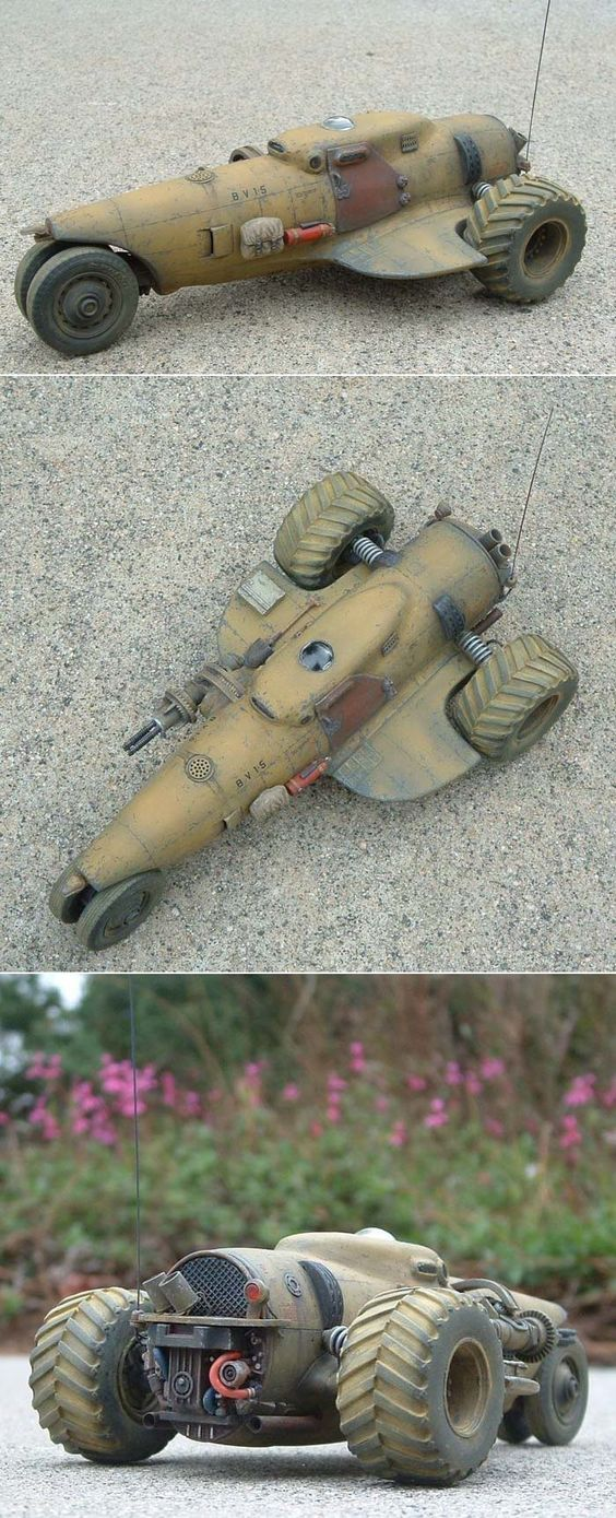 1/48 Scratch Built vehicle based on a P-47 fuselage   http://www.network54.com/Forum/47751/message/1388038110/2013+builds