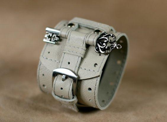 Mujer+reloj+de+pulsera+pulsera+de+cuero+Ancona1+hecho+a+por+dganin,+$120.00