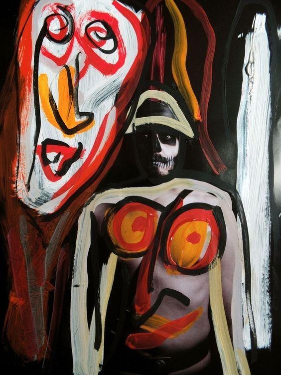 Jonathan Meese - 24 Stunden Grünkreuz Rückseite mit zusätzlicher Skizze TODhttp://www.ebay.de/itm/141199198138?ssPageName=STRK:MESELX:IT_trksid=p3984.m1586.l2649