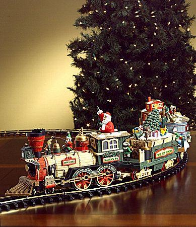 Dillards Trimmings 4Piece Santa Electric Train Set # ...