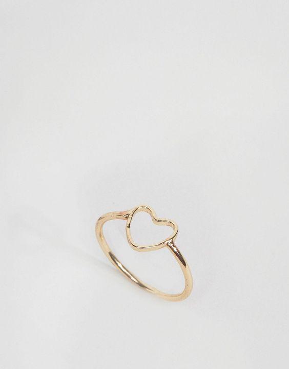 ASOS+Open+Heart+Pinky+Ring