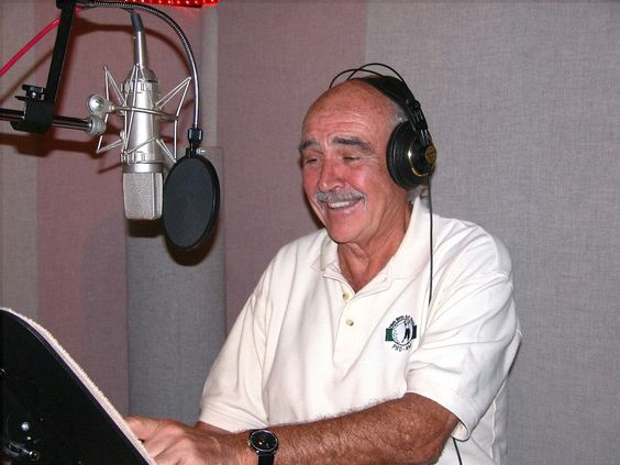 Sir Sean Connery recording the voice of Sir Billi