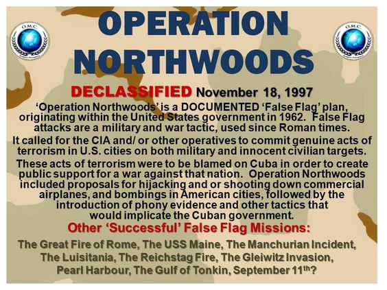 Operation Northwoods false flag operations INFOWARS.COM BECAUSE THERE'S A WAR ON FOR YOUR MIND: