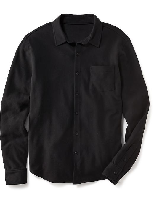Long-Sleeve Button-Front Polo