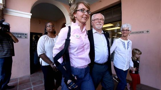 Gabrielle Giffords has attended court to see Jared Lee Loughner, the gunman who shot her in Arizona last year, sentenced to life in prison
