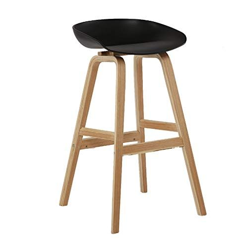Gy Bar Stool Modern Wooden Breakfast Bar Chair Pp Plastic Chair Footstool Home Kitchen 90 120cm Counter High B Breakfast Bar Chairs Bar Stools Plastic Chair