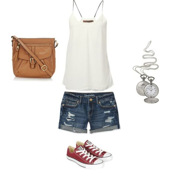summer look, created by melrussam on Polyvore