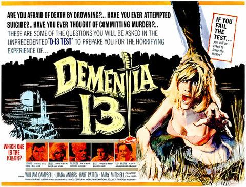 Dementia 13 - 1963 - Movie Poster | Movie posters, Film posters ...