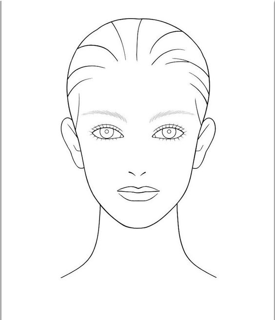 Kb Beauty.com: Blank Face Chart Temples (Male And Female). | Face Charts |  Pinterest | Face Charts, Chart And Face  Blank Face Templates