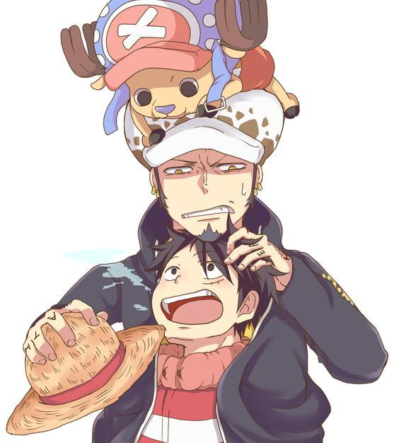 あったけぇ. #Law #Luffy #Chopper