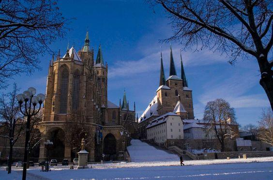 Thuringen Erfurt Domplatz Erfurt Cologne Cathedral Cathedral